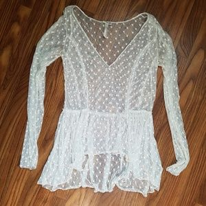 Free People sheer dotted top